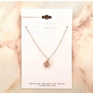 lc lauren conrad lotus flower pendant necklace